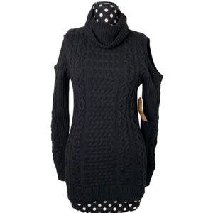 Ruff Hewn NWT Knit Cold Shoulder Turtleneck Size S